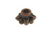 Copper Plated Brass 8-Petal Flower Bead Cap