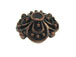 Copper Plated Brass 4-Petal Flower Bead Cap