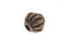 Round Fluted Copper Plated Brass Bead