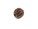Round Copper Plated Brass Lined Bead