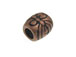 Copper Plated Brass Barrel Shaped Bead