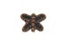 Copper Plated Brass Butterfly Bead