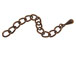 2.25 Inch, Antique Copper Plated Brass Extender Chain with Drop