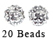 PAParazzi Beads - White Diamond