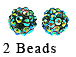 PAParazzi Beads - Peacock Green
