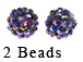 PAParazzi Beads - Purple/Green