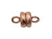 Copper Plated: 6mm Round Magnetic clasp - Bulk Pack of 144