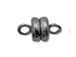 Gunmetal Finish: Round Magnetic clasp -Bulk Pack of 144