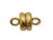 Gold Plated: 6mm Round Magnetic clasp (Bulk Pack of 144)