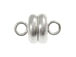 Silver Plated: 6mm Round Magnetic Clasp
