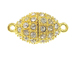 Gold Plated: Oval Magnetic Fireball Clasp