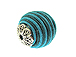 22mm Round Fabric Beads - Blue