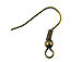 Brass Oxidized Plated Earwire with Ball & Coil