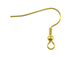 Gold Plated Earwire with Ball & Coil
