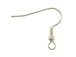Silver Plated Earwire with Ball & Coil