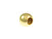 3mm Round  Very Large Hole Seamless 14K Gold Filled Beads, 1.57mm Hole