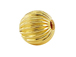 7mm Round Straight Corrugated 14K Gold Filled Beads