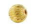 8mm Round Straight Corrugated 14K Gold Filled Beads