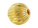 12mm Round Straight Corrugated 14K Gold Filled Beads in Bulk