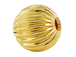 14mm Round Straight Corrugated 14K Gold Filled Beads