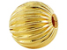 22mm Round Straight Corrugated 14K Gold Filled Beads