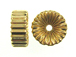 16x7.5mm 14K Gold Filled Corrugated Rondelle Beads