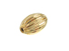 14K Gold Filled 12.5x8mm Corrugated Oval Bead