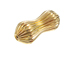 14K Gold Filled 21.5x8.9mm Corrugated Hour Glass Bead