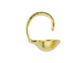 14K Gold-Filled 3mm 0.028 inch hole Clamshell Beadtip