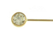 1.5 Inch, 24 Gauge Gold Filled Headpin With Clear CZ