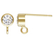 14K Gold-Filled Post Earring with 4mm CZ