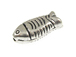 4  Sterling Silver Fish Beads
