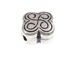 4  Sterling Silver Clover Beads