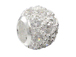 1  Sterling Silver 10mm Round CZ Bead