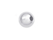 100  3mm Round Plain Seamless Sterling Silver Beads