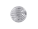 10  Sterling Silver Straight Corrugated 6mm Round Beads