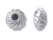 10  Sterling Silver 6x3.25mm Corrugated Twist Rondelle Beads