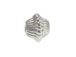 10  Sterling Silver 4x3.5mm Corrugated Bicone Beads