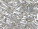 105  Sterling Silver- Liquid Silver Twist Tube Beadss