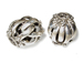 1  Sterling Silver 20.5x18mm Fancy Moving Beads