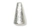 4  Sterling Silver 16x8-3mm Beads Cone