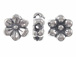 2  Sterling Silver 11.5x5.25mm 2-Sided Flower Beads