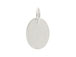 Sterling Silver Oval Hang Tag
