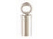 2mm Sterling Silver Tube Endcap (2mm ID)
