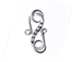 Bali Sterling Silver S Hook with 5 Dots