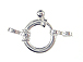 0mm Heavy Duty Spring Ring Clasp Sterling