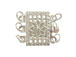 Sterling Silver  Rectangle 3-Strand Clasp