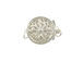 Sterling Silver Round Filigree Clasp