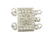 Sterling Silver Rectangle 2-Strand Filigree Clasp