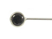 1.5 Inch, 24 Gauge Sterling Silver Headpin with Black CZ